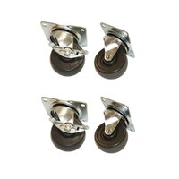 True 872069 4 inch Replacement Swivel Plate Casters - 4 / Set