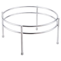 Clipper Mill by GET IRS-05 Boulevard Stainless Steel Round Riser with Brushed Finish - 12 inch x 6 inch
