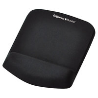 Fellowes 9252001 PlushTouch Black Foam Mouse Pad with Wrist Rest and Microban Protection