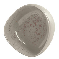Schonwald 938316363043 Pottery 11 oz. Unique Light Gray Organic Porcelain Bowl - 6/Case