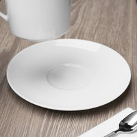 Schonwald 9136918 Fine Dining 6 1/4 inch Round Continental White Porcelain Saucer - 12/Case