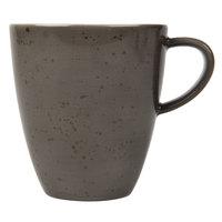 Schonwald 938527463044 Pottery 8 oz. Unique Dark Gray Porcelain Cup - 12/Case