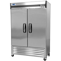 Nor-Lake NLF49-S AdvantEDGE 55 inch Two Solid Door Reach-In Freezer - 49 Cu. Ft.