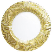 The Jay Companies 13 inch Gold Nilo Glass Charger Plate