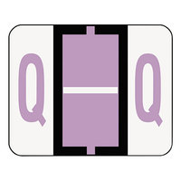 Smead 67087 1 1/4 inch x 1 inch Alpha-Z Color-Coded Lavender Letter Q Name Filing Label - 500/Roll