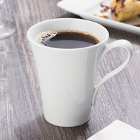 Schonwald 9135375 Fine Dining 8.5 oz. Continental White Porcelain Cup - 6/Case