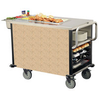 Lakeside 6754 SuzyQ Sand Stone Dining Room Meal Serving System with One Heated Well - 120V