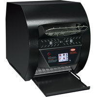 Hatco TQ3-900 Toast-Qwik Black Conveyor Toaster with 2 inch Opening and Digital Controls - 208V, 3020W