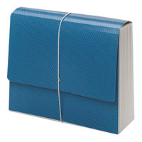 Smead 70769 SuperTab 12 inch x 10 inch Blue 12 Pocket Expanding File - Letter
