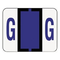 Smead 67077 1 1/4 inch x 1 inch Alpha-Z Color-Coded Violet Letter G Name Filing Label - 500/Roll