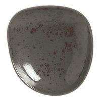Schonwald 938570963044 Pottery 3 1/2 inch Unique Dark Gray Organic Porcelain Plate - 24/Case