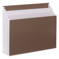 Smead 70221 8 3/4 inch x 10 1/2 inch Assorted Color 3 Section Stadium File with Vertical Folder, Letter