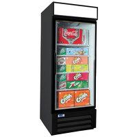 Nor-Lake NLGRP23-HG-B AdvantEDGE 27 inch Black Swing Glass Door Refrigerated Merchandiser with LED Lighting - 22.1 Cu. Ft.