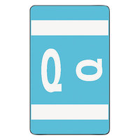 Smead 67187 1 inch x 1 5/8 inch Alpha-Z Color-Coded Light Blue Q Second Letter Name Filing Label - 100/Pack