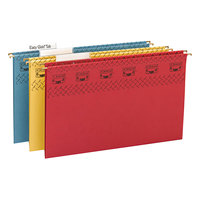 Smead 64140 8 1/2 inch x 14 inch Assorted Color 1/3 Cut Tab Tuff Hanging Folder With Easy Slide Tab - Legal - 15/Box