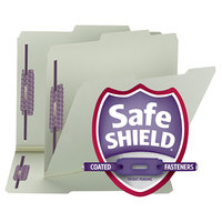 Smead 14980 SafeSHIELD Letter Size Fastener Folder with 2 Fasteners, 1 inch Expansion - 25/Box