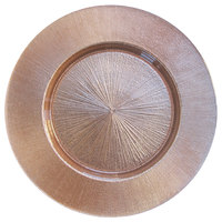 The Jay Companies 13 inch Rose Gold Glass Charger Plate