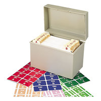 Smead 67170 1 inch x 1 5/8 inch Alpha-Z Color-Coded Second Letter Alpha Label Kit with Box - 2200/Box