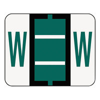 Smead 67093 1 1/4 inch x 1 inch Alpha-Z Color-Coded Dark Green Letter W Name Filing Label - 500/Roll