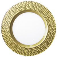 The Jay Companies 13 inch Gold Daphne Glass Charger Plate