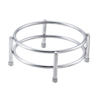 Clipper Mill by GET IRS-09 Boulevard Stainless Steel Round Riser with Brushed Finish - 7 inch x 3 inch