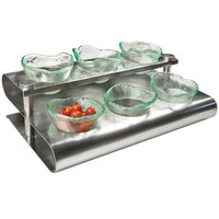 Clipper Mill by GET SSCOND-01 15 1/4 inch x 10 inch Stainless Steel S-Shaped Condiment Rack
