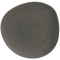 Schonwald 938123163044 Pottery 12 3/8 inch Unique Dark Gray Organic Porcelain Plate - 6/Case