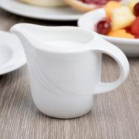 Schonwald 9184715 Donna 5 oz. Continental White Porcelain Creamer - 12/Case