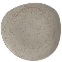 Schonwald 938123163043 Pottery 12 3/8 inch Unique Light Gray Organic Porcelain Plate - 6/Case