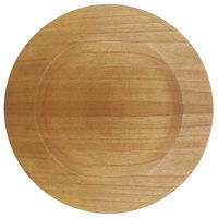 The Jay Companies 13 inch Brown Paulownia Faux Wood Charger Plate