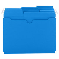 Smead 64200 FasTab Letter Size Hanging File Pocket - Reinforced 1/3 Cut Assorted Tab, Sky Blue - 25/Box