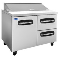 Nor-Lake NLSP48-12-002 AdvantEDGE 48 1/4 inch 1 Door 2 Drawer Refrigerated Sandwich Prep Table