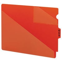 Smead 61960 9 1/2 inch x 12 3/4 inch Red Poly Out Guide with Diagonal-Cut Pockets, Letter   - 50/Box