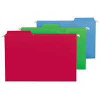 Smead 64153 8 1/2 inch x 14 inch Assorted Color FasTab Hanging Folder - Legal - 18/Box