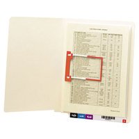 Smead 34112 Shelf-Master Letter Size Fastener Folder with 1 U-Clip Fastener - Reinforced Straight Cut End Tab, Manila - 50/Box