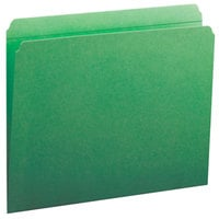 Smead 12110 Letter Size File Folder - Standard Height with Reinforced Straight Cut Tab, Green - 100/Box