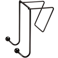 Fellowes 75510 Partitions Additions 4 inch x 6 inch Black Wire Double-Garment Hook