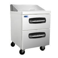 Nor-Lake NLSP27-8-001 AdvantEDGE 27 1/2 inch 2 Drawer Refrigerated Sandwich Prep Table