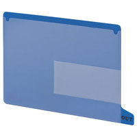 Smead 61951 9 inch x 13 1/4 inch Blue Poly Out Guide with Pockets, Letter   - 25/Box