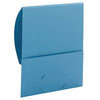 Smead 87914 Organized Up Stackit Letter Size Textured 2-Pocket Paper Pocket Folder, Blue - 10/Pack