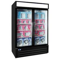 Nor-Lake NLGFP48-HG-B AdvantEDGE 52 inch Black Glass Door Merchandiser Freezer - 45.7 Cu. Ft.
