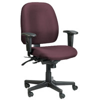 Eurotech 498SL-AT31 4x4 SL Series Burgundy Fabric Mid Back Multifunction Swivel Office Chair