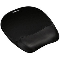 Fellowes 9176501 Black Mouse Pad with Foam Wrist Rest