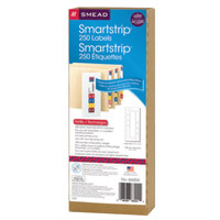 Smead 66004 7 1/2 inch x 1 1/2 inch SmartStrip White Laser Label Stock - 250/Pack