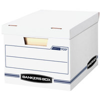Fellowes 0070308 Banker's Box 12 1/2 inch x 16 1/4 inch x 10 1/2 inch White Letter/Legal Sized File Storage Box with Lift-Off Lid - 4/Case
