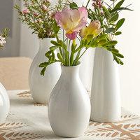 Acopa 3 3/4 inch Bright White Porcelain Jug Bud Vase
