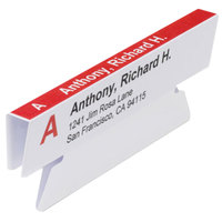 Smead 64912 3 1/2 inch x 1 1/4 inch Viewables Angle View White Hanging Folder Tab - 45/Pack