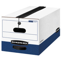 Fellowes 11111 Liberty Bankers Box 24 1/8 inch x 12 1/4 inch x 10 3/4 inch White Letter File Storage Box with String & Button Closure - 12/Case