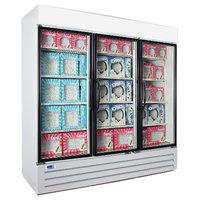 Nor-Lake NLGFP74-HG-W AdvantEDGE 78 inch White Glass Door Merchandiser Freezer - 70.2 Cu. Ft.