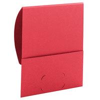 Smead 87916 Organized Up Stackit Letter Size Textured 2-Pocket Paper Pocket Folder, Red - 10/Pack